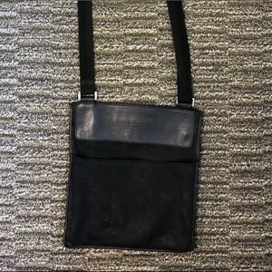 Black Gucci canvas w/ leather trim Crossbody